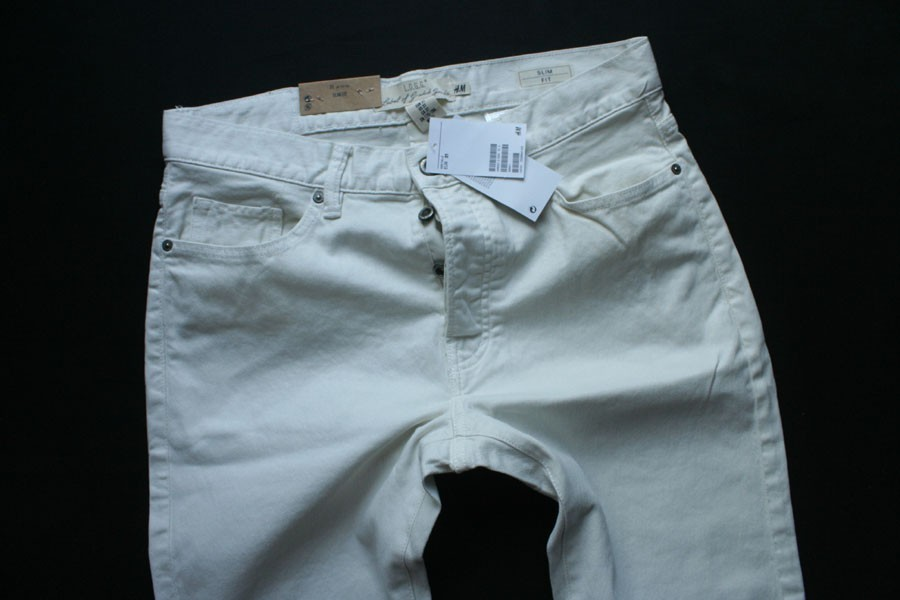 H&M LOGG model SLIM FIT LEG ecru W32 50%