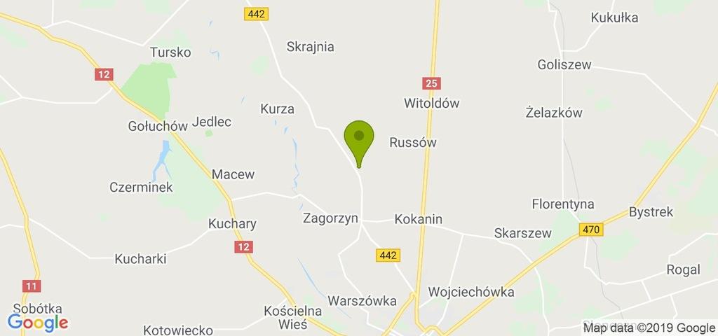 Działka Blizanów, kaliski, 1250,00 m²