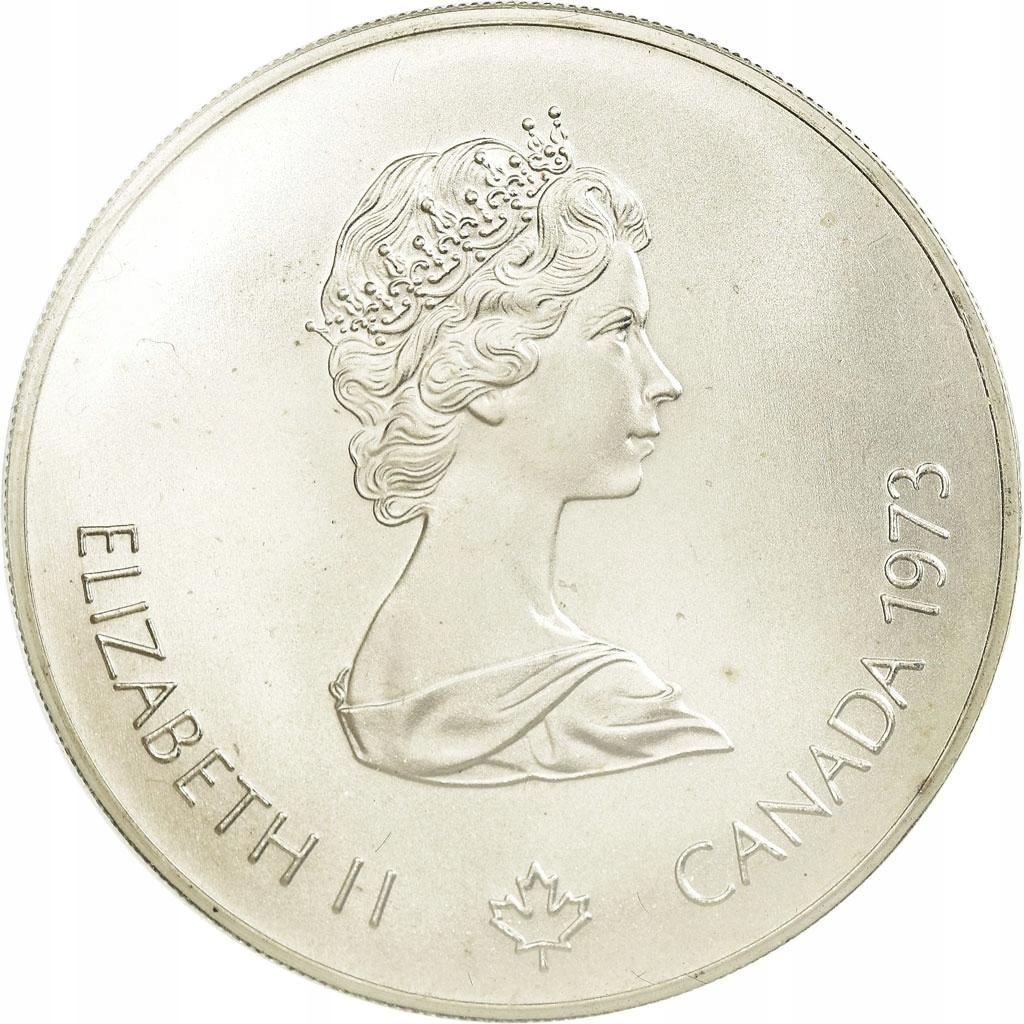 Moneta, Canada, Elizabeth II, 5 Dollars, 1973, Roy