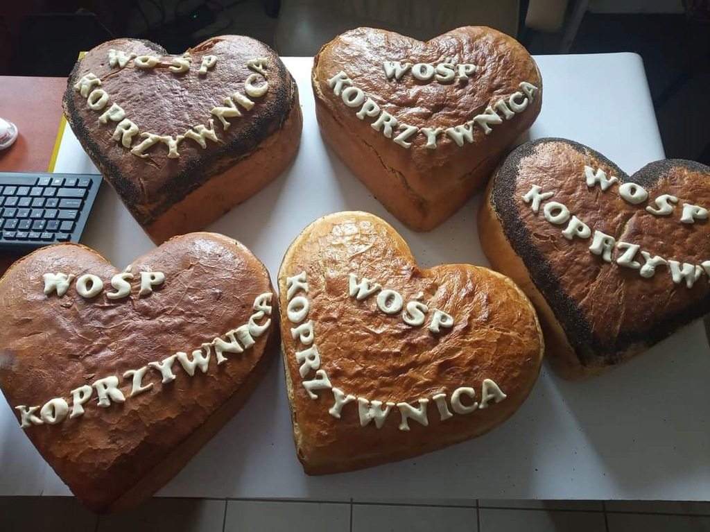 Chleb wyjątkowy tylko dla WOŚP KOPRZYWNICA 1sztuka