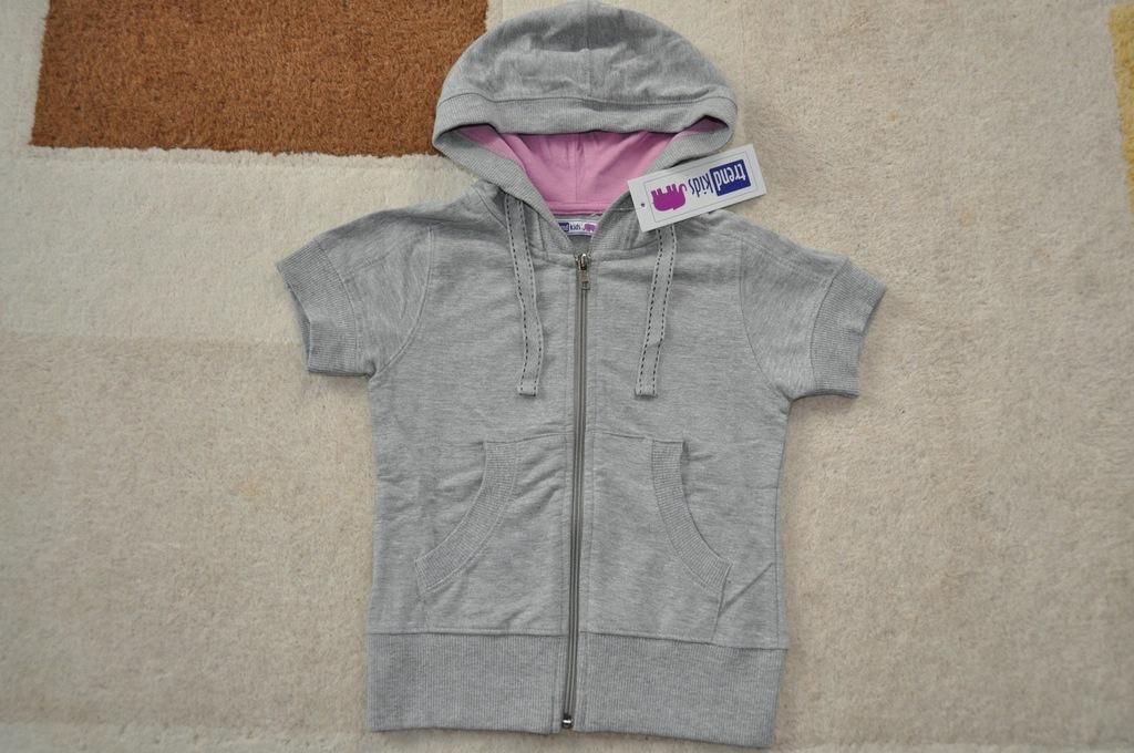 Bluza dziewczęca kaptur krótki rękaw 116 8267614216