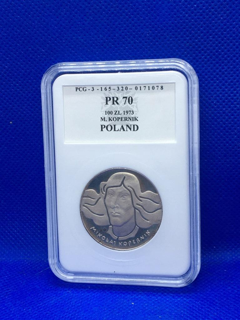 100 zł 1973 - KOPERNIK - GRADING PR70