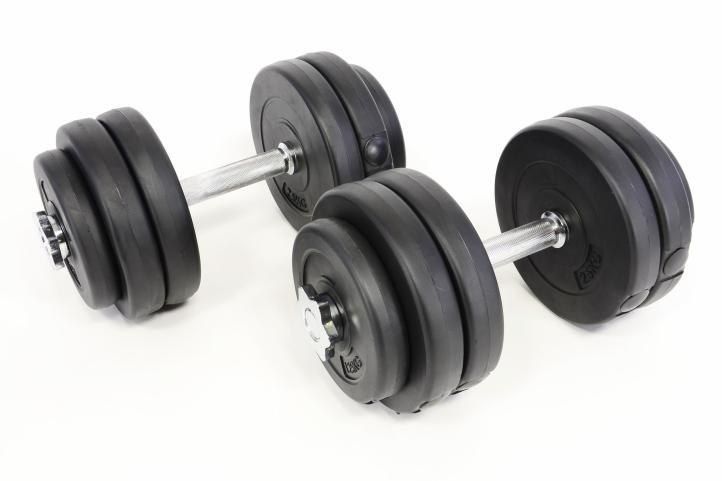 Zestaw hantli ciężarków do ćwiczeń 30 kg