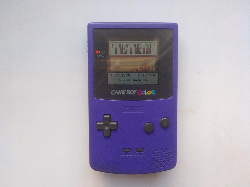 CGB Gameboy Color grape + Tetris
