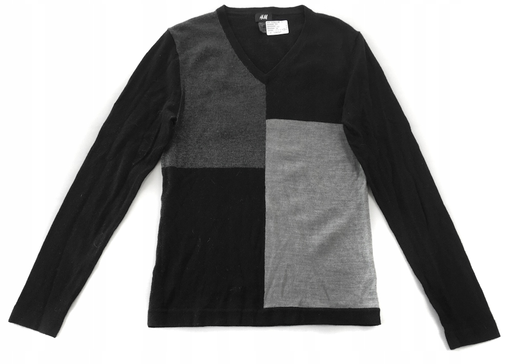 4026 HM BLACK grey SWEATER with WOOL male S