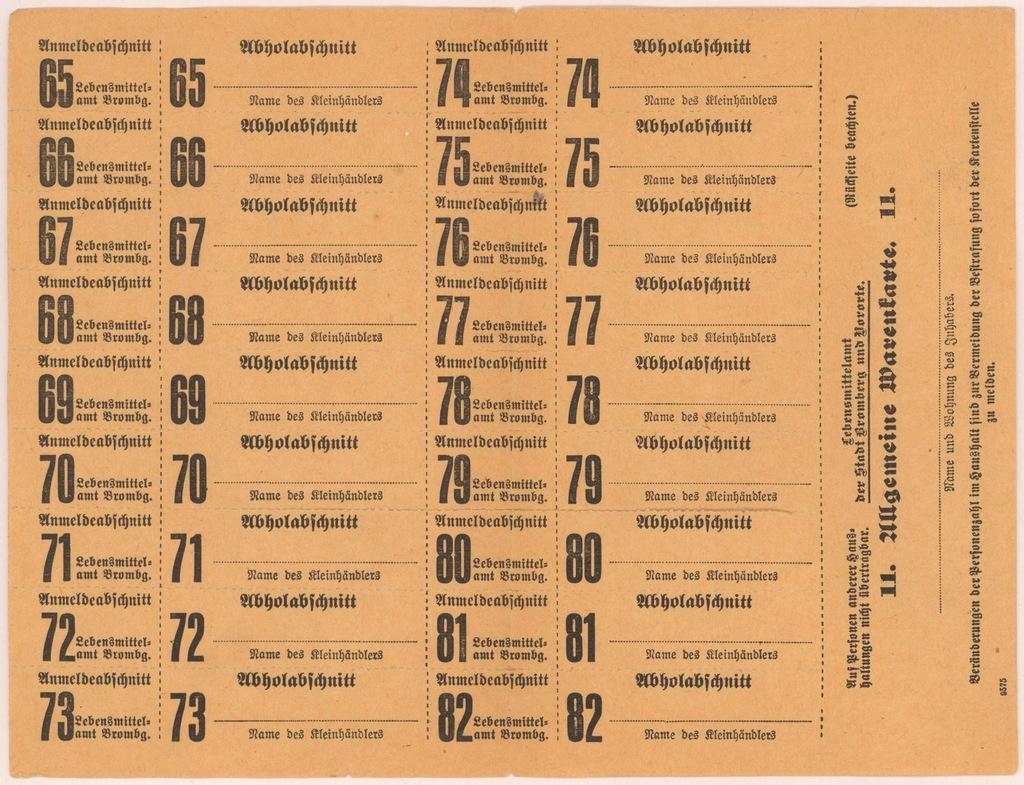 4578. Bydgoszcz - karta zaopatrzeniowa