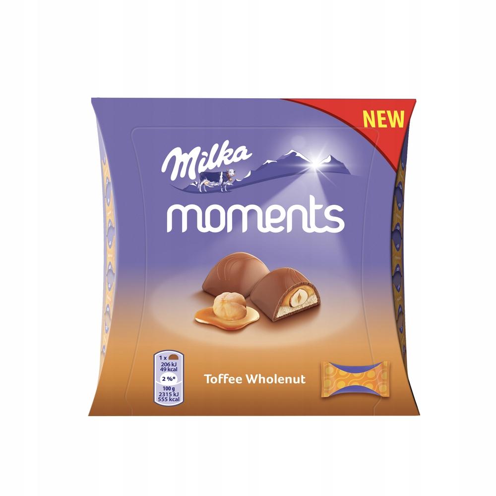 Czekoladki MILKA Moments Toffee Wholenut 97g