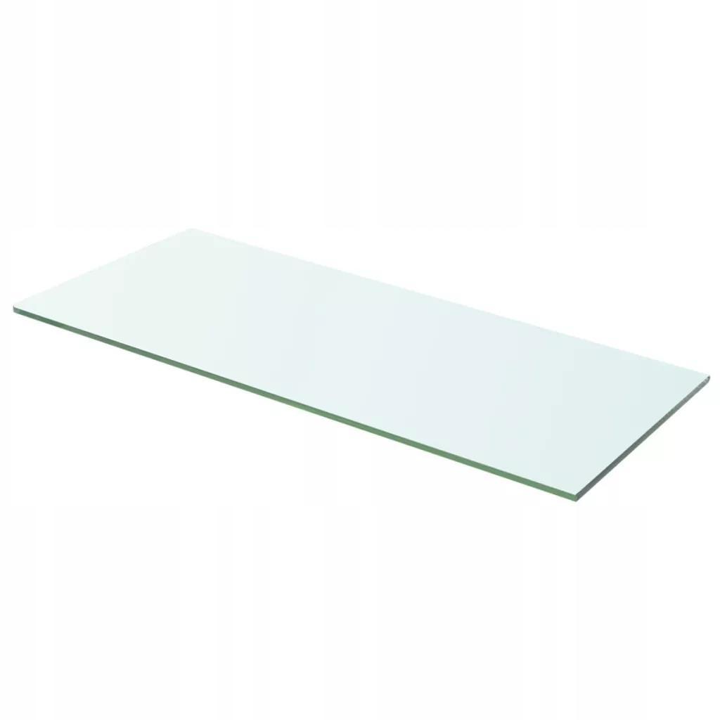 Łazienkowa Półka Szklana Bezbarwny Panel 60x20 cm