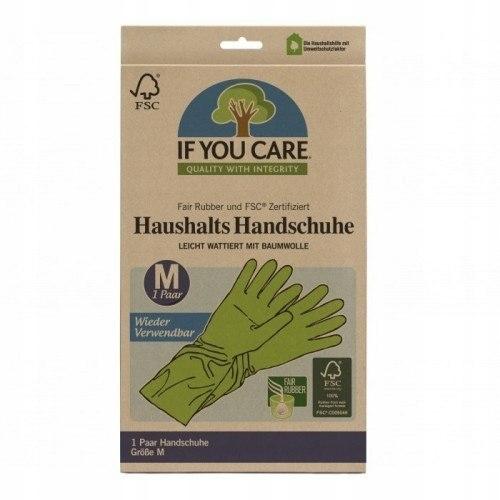 IF YOU CARE Wielorazowe Rękawiczki Lateksowe Roz M