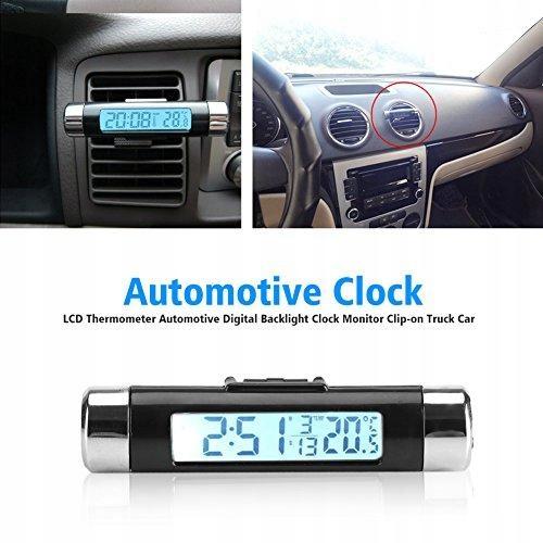 Samochodowy zegar temperatury, wielofunkcyjny cyfr