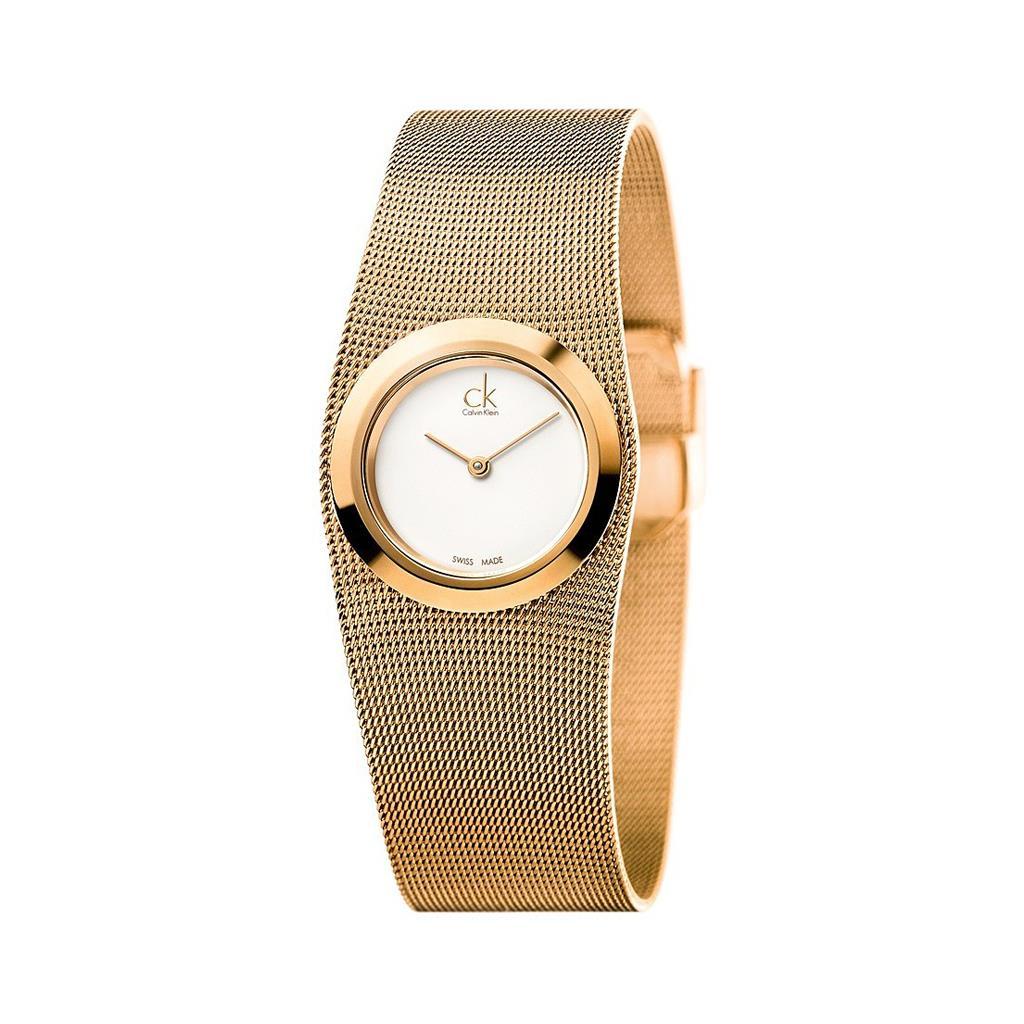 Calvin Klein zegarek damski pomarańczowy