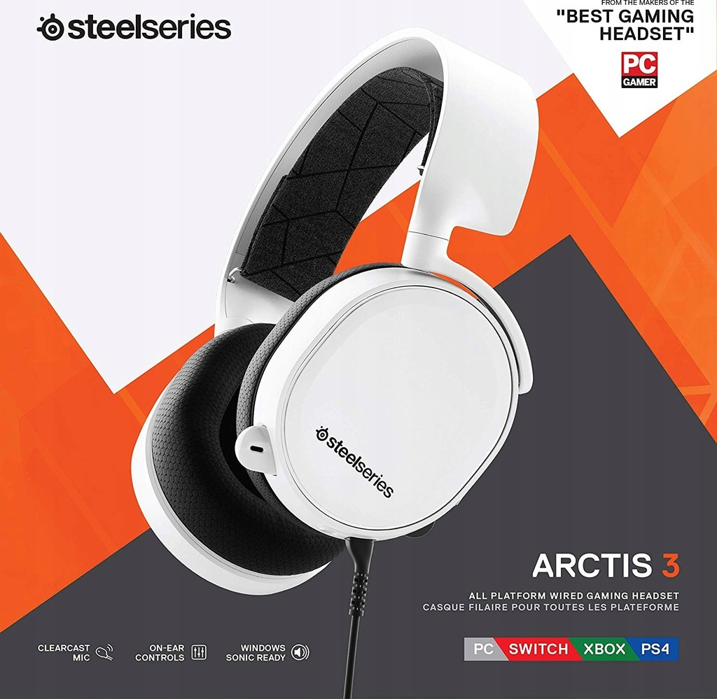 Słuchawki gamingowe Steelseries Arctis 3 Model2019