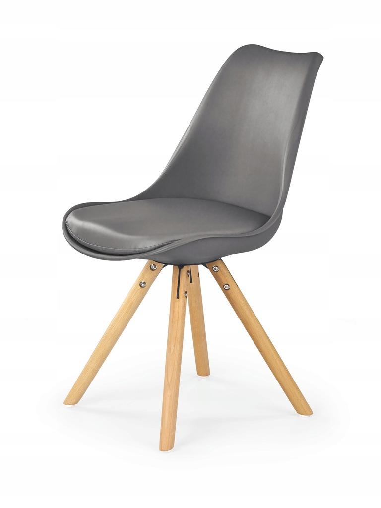 Krzesło K201 popiel siedzisko eskóra HALMAR