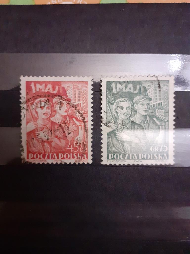 Filatelistyka - 1952 - seria - 1V Święto Pracy