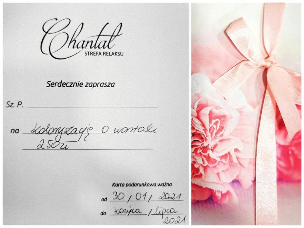 voucher na koloryzację od Chantal Strefa Relaksu