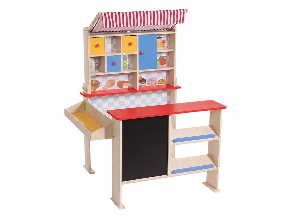 Playtive Junior Duzy Drewniany Sklep Stragan Kreda 7705214501 Oficjalne Archiwum Allegro
