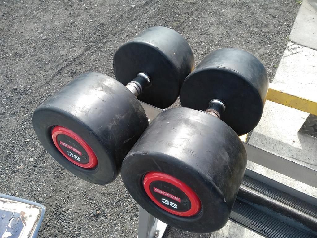 Hantle Ogumowane 2x38kg Sztangielki 38kg ESCAPE