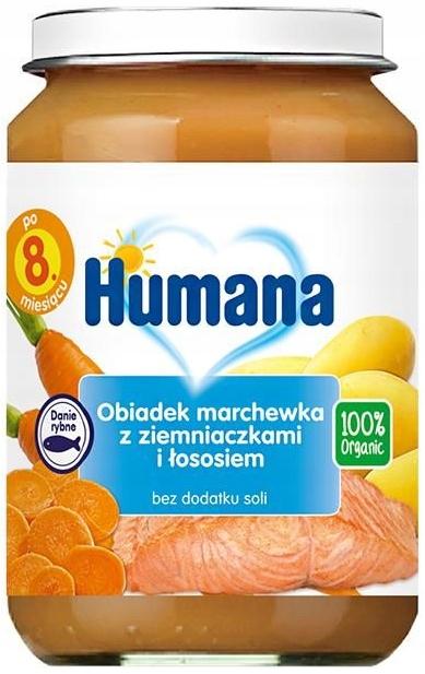 HUMANA OBIADEK MARCHEWKA + ZIEMNIACZKI + ŁOSOŚ 190