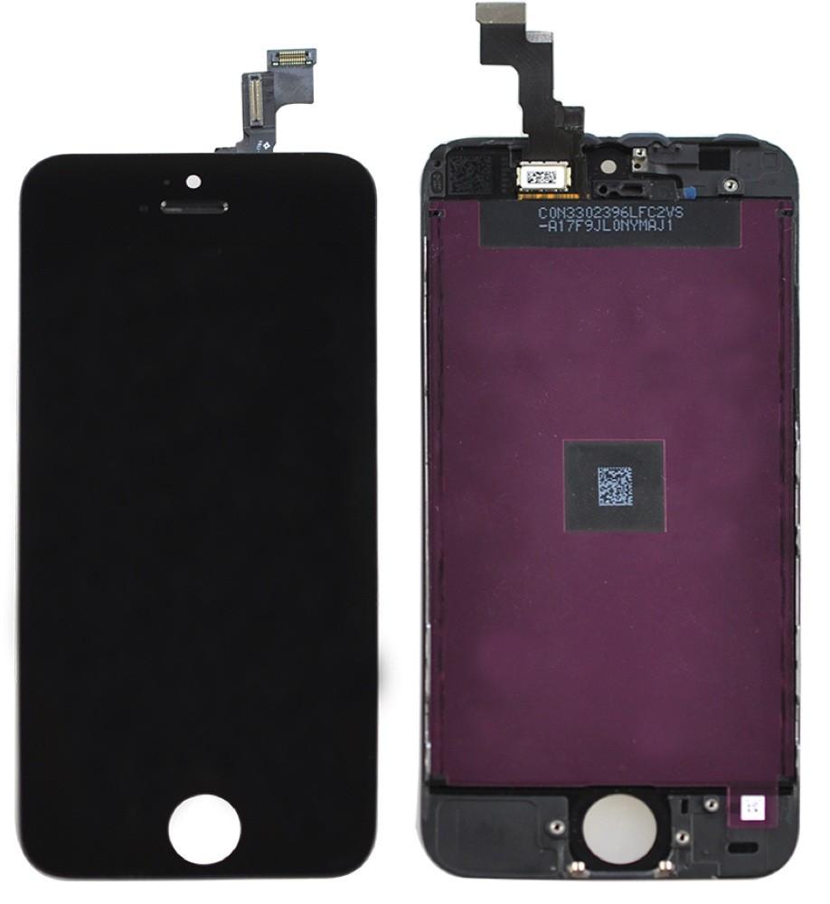 iPHONE 5C WYŚWIETLACZ LCD + DOTYK DIGITIZER CZARNY