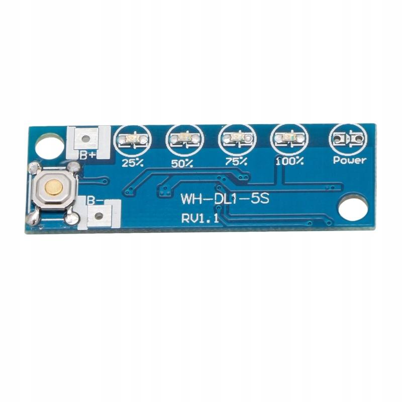 Wskaźnik naładowania akumulatora 5S 18V -21V - D -