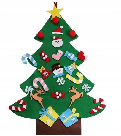 Boże Narodzenie Filc Choinka z ozdobami Dzieci - 8654096131 - oficjalne  archiwum Allegro