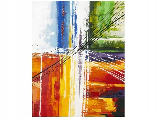 40x50cm Tęczowa abstrakcja obraz druk dekoracja śc