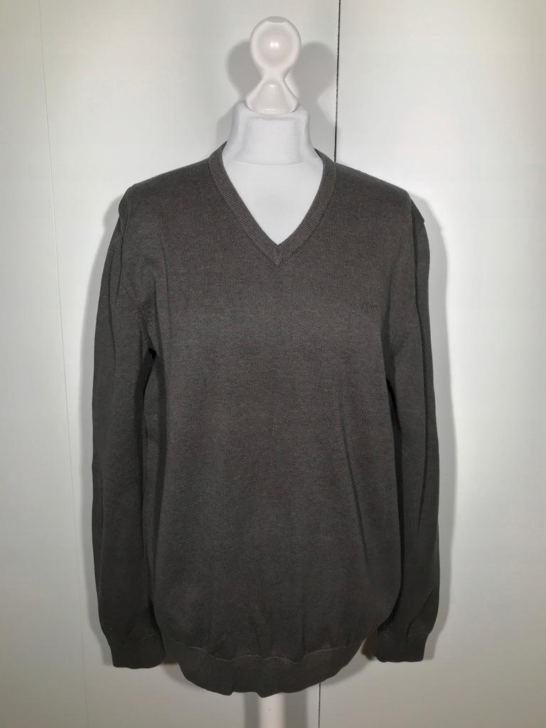 Sweter męski s.OLIVER brązowy L