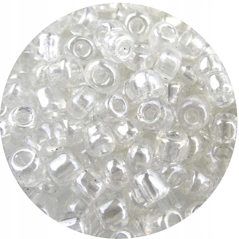 Koraliki szklane 4mm 500g PRZEZROCZYS 6000sz 18131