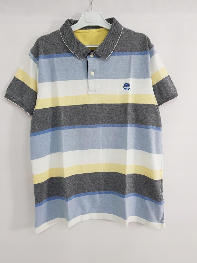 TIMBERLAND_męska bawełniana koszulka polo_XL/XXL