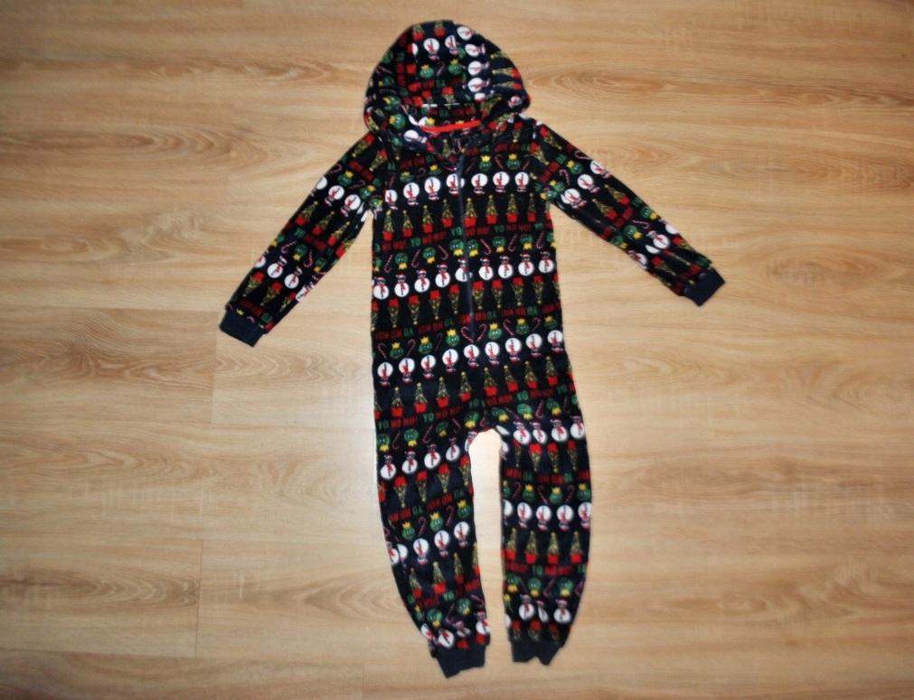ŚWIĘTA piżama pajacyk ŚWIĄTECZNA 128 BDB
