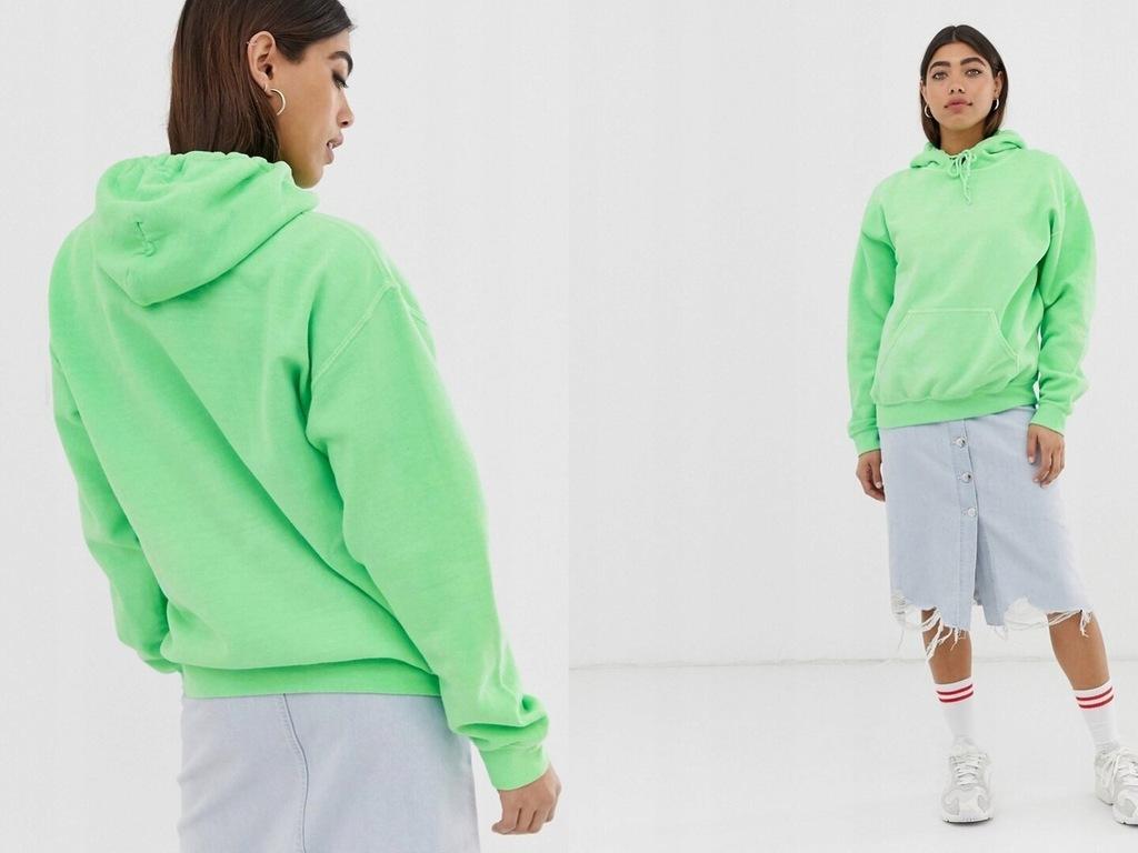 Reclaimed Jasna zielona bluza z kapturem M