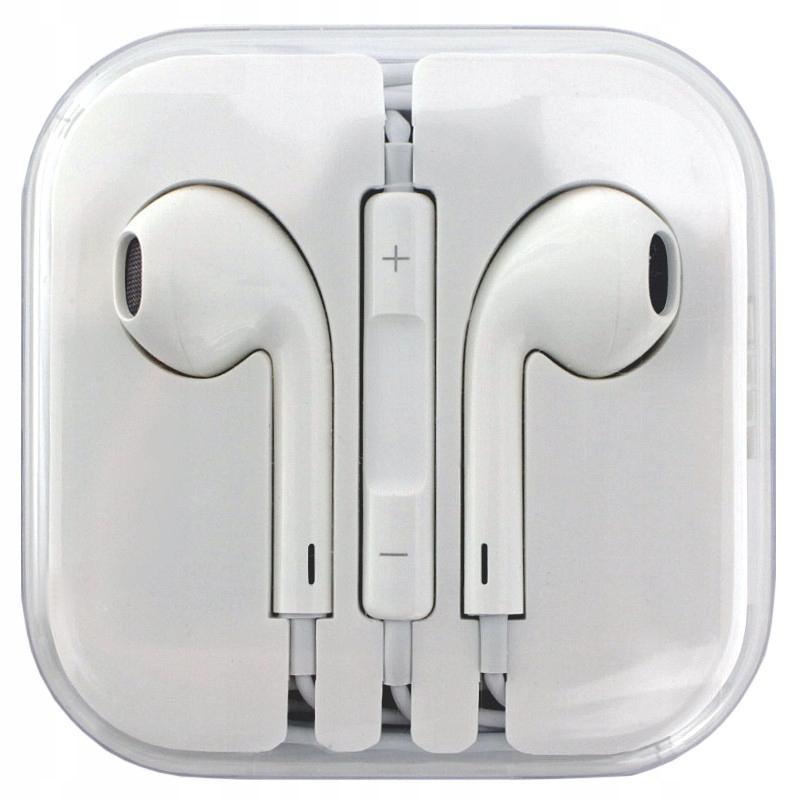 Oryginalne EarPodsy przewodowe słuchawki Apple