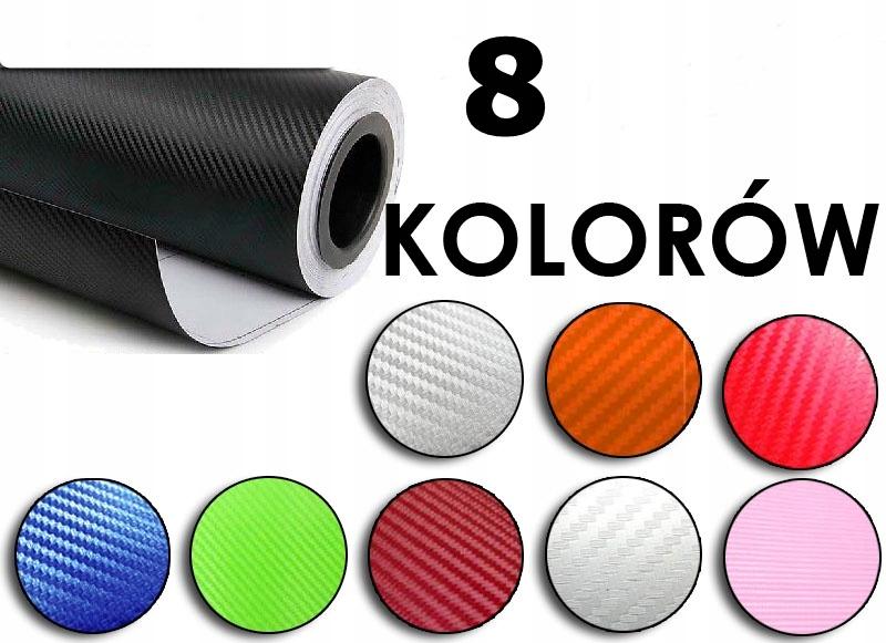 Folia rolka carbon 3D czerwona 1,27x28m