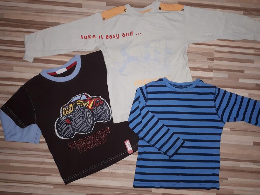 3 bluzki H&M r.104