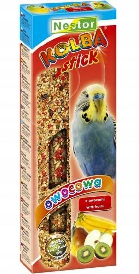 Kolba dla ptaków papugi falistej 2 szt. owocowa