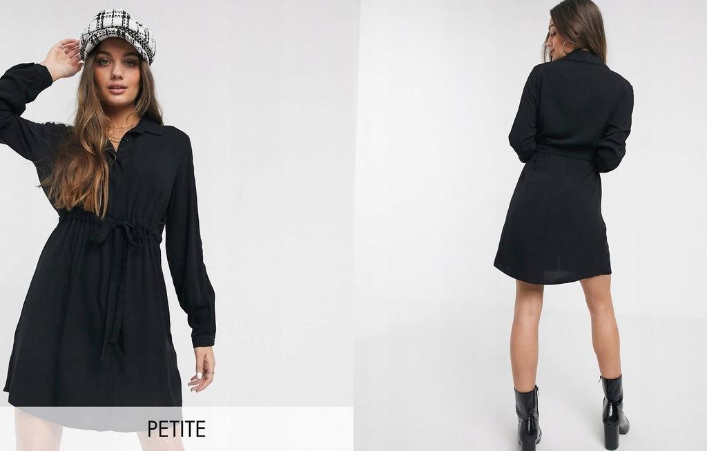 New Look Petite Czarna szmizjerka mini, S/36