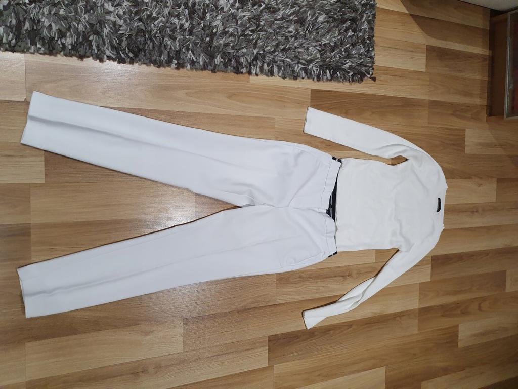 Zara s spodnie białe reserved s sweter