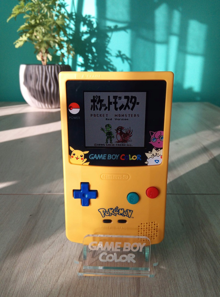 Game Boy Color Super Ekran IPS Pokemon