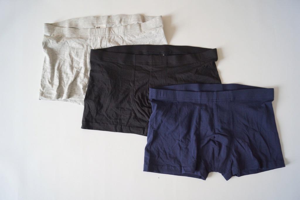wzorzyste BOKSERKI majtki H&M L 40 3 pak