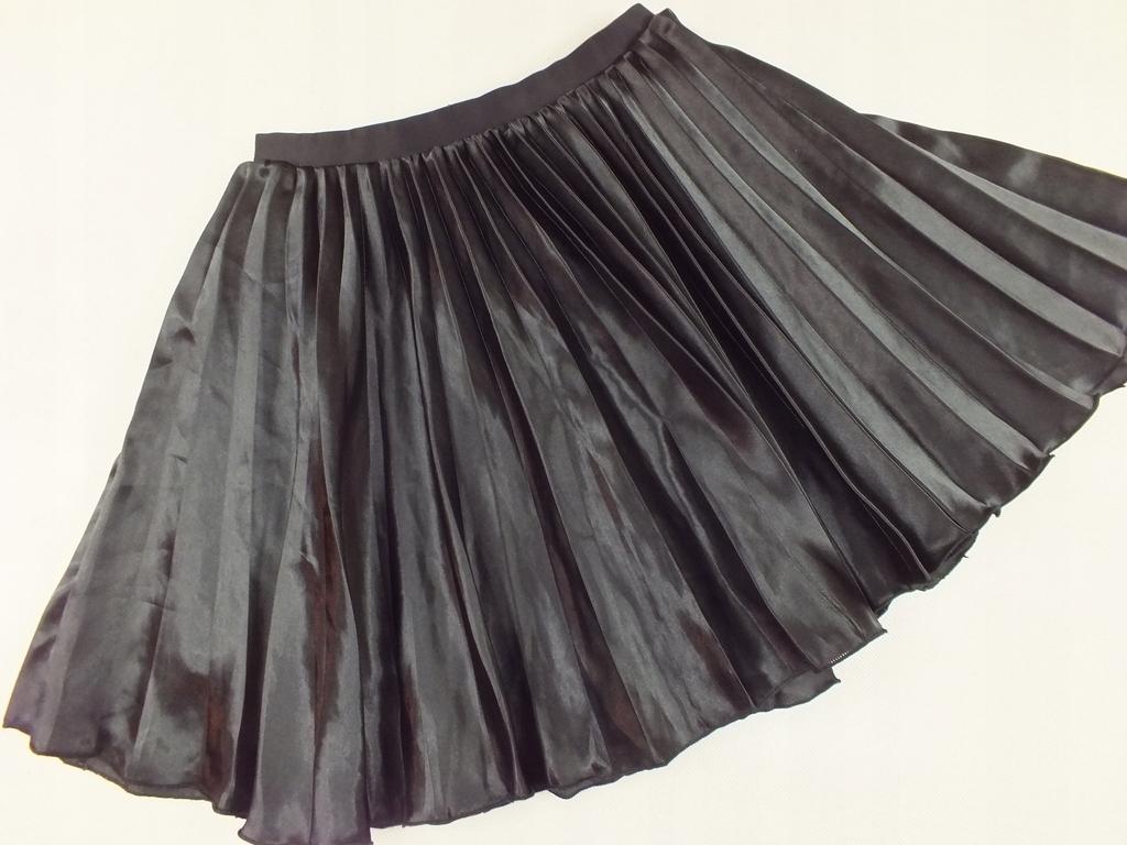 H&M czarna spódniczka harmonijka plisowana 146