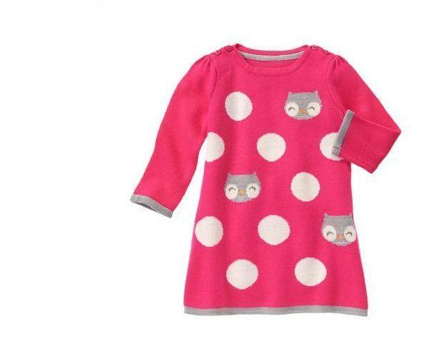 Gymboree sukienka swetrowa z sówkami 4-5 lat