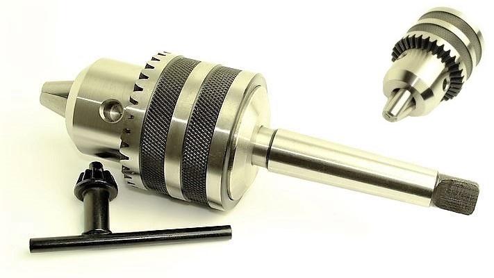 Uchwyt wiertarski kluczyk B18 1-16mm + trzpień MK2