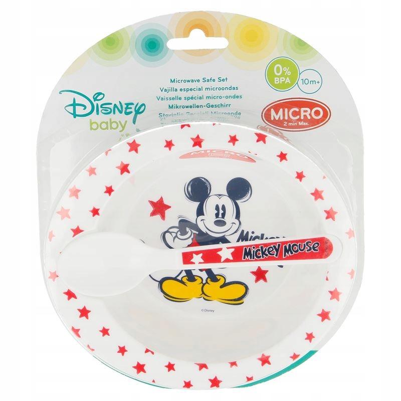 Mickey Mouse - Zestaw do mikrofali (miseczka + łyż