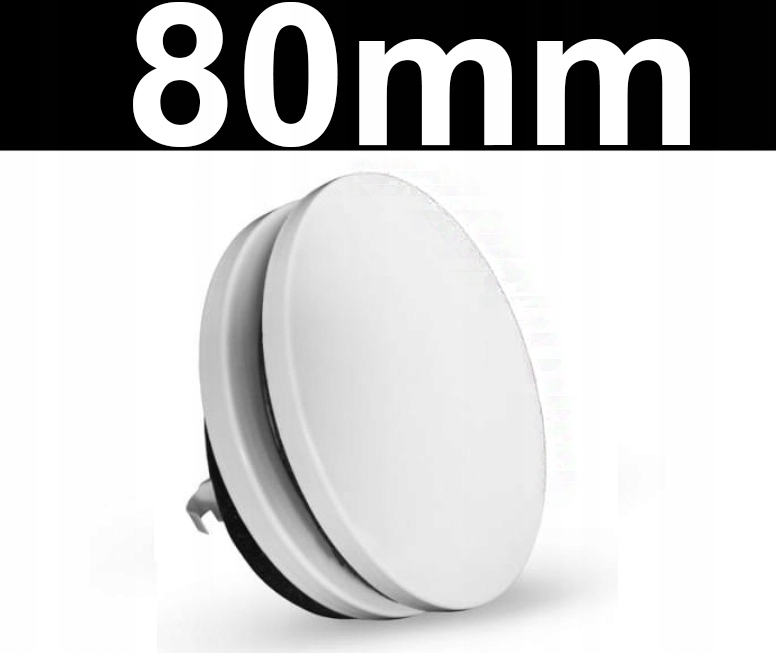 Anemostat nawiewny biały okrągły 80mm WENTYLACJA