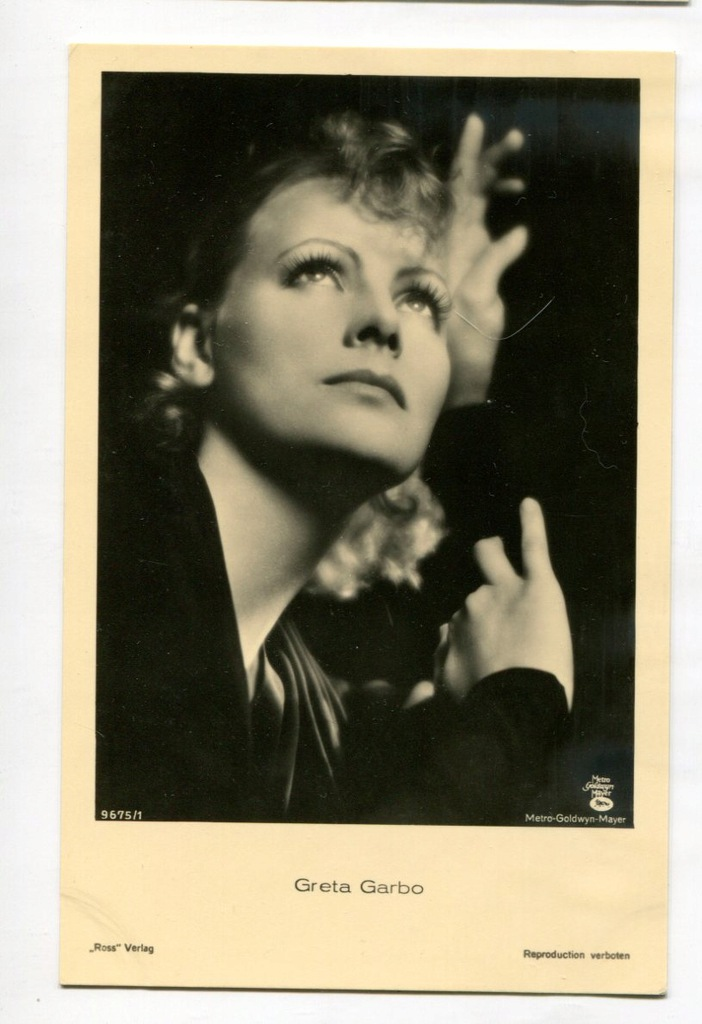 Greta Garbo Kino Film Aktorka Foto Pocztówka 18