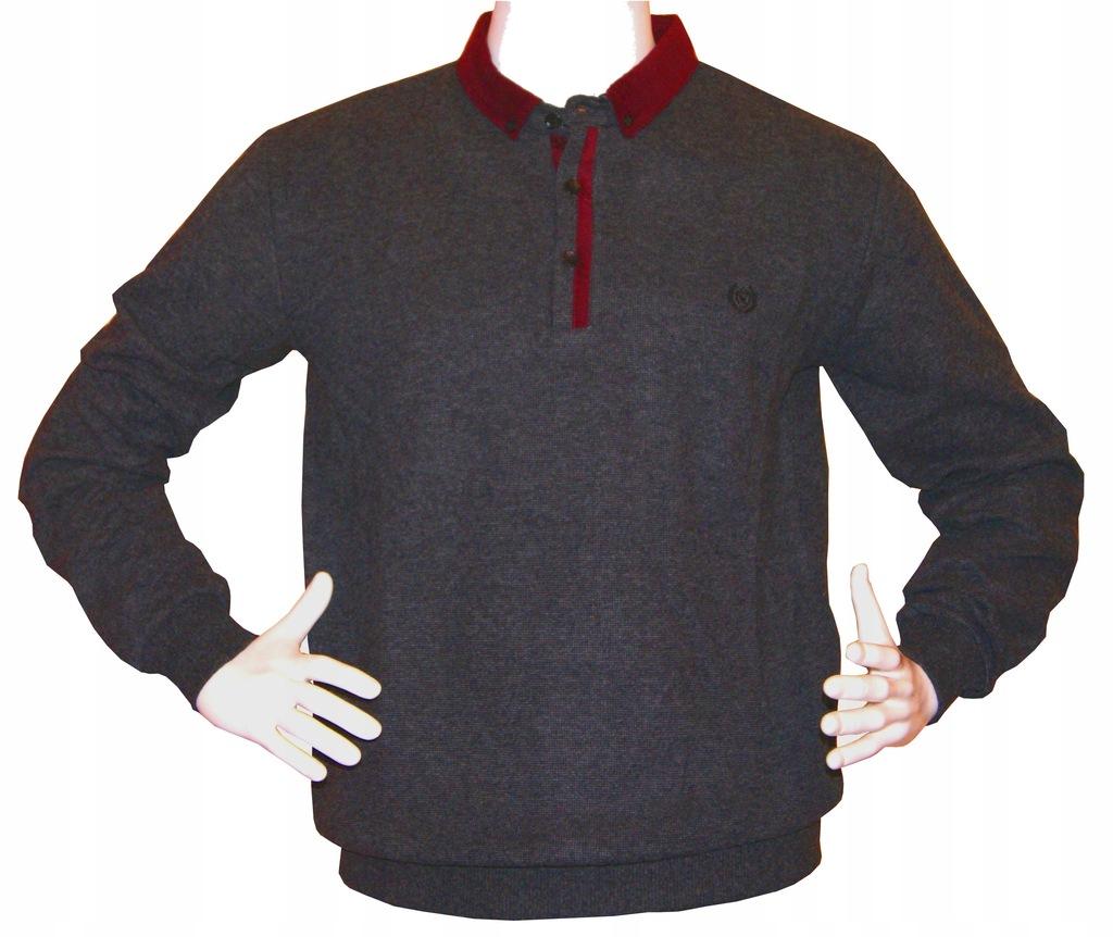 Sweter męski Polo grafitowy Rozmiar M