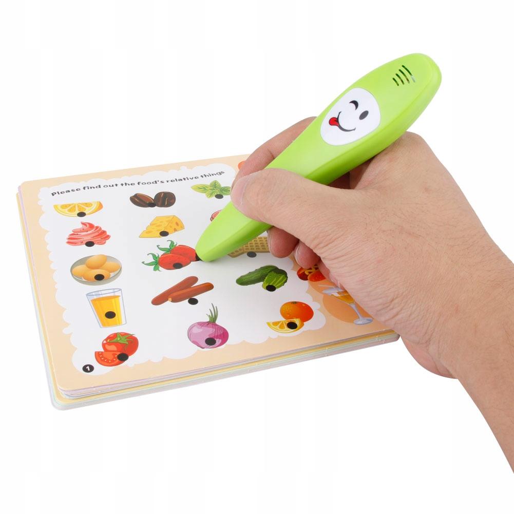 Karty poznawcze długopis do czytania dla dzieci