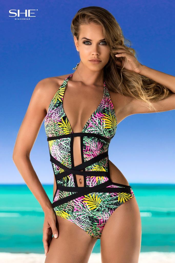SHE LIDIA strój kąpielowy monokini 36B OKAZJA