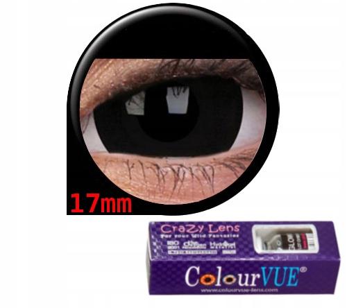 KOLOROWE SOCZEWKI Crazy Wild Eyes Black Titan 17mm