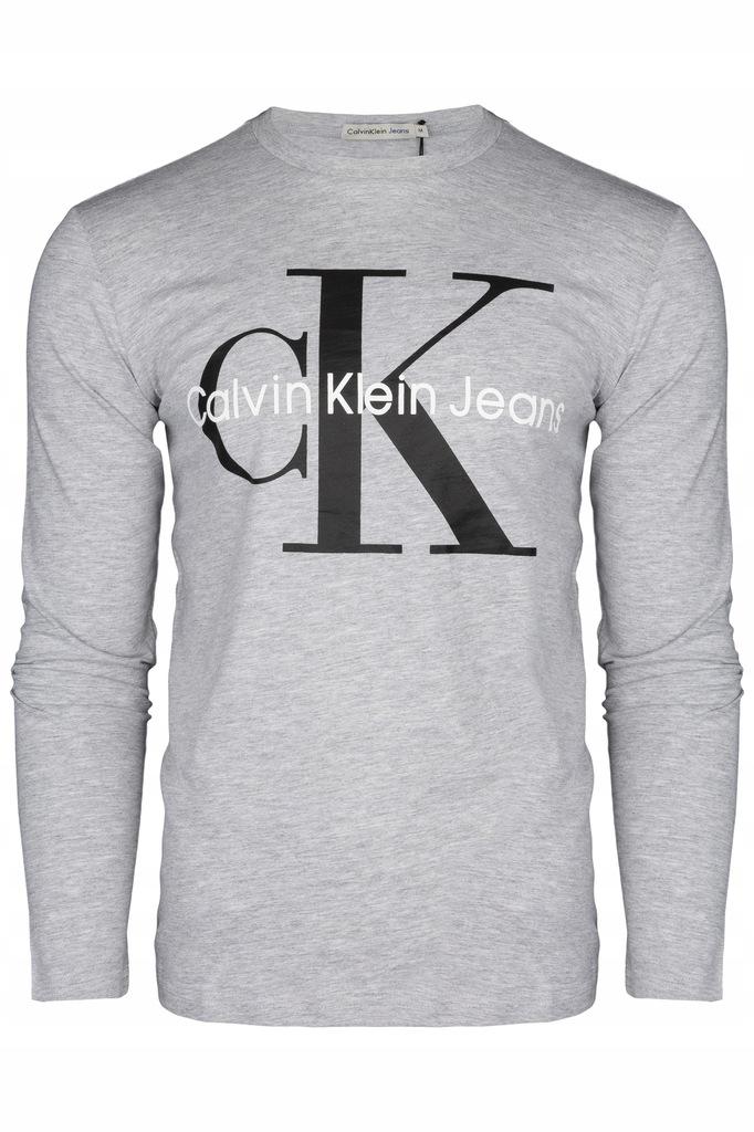 LONGSLEEVE MĘSKI CALVIN KLEIN CK SZARY XL